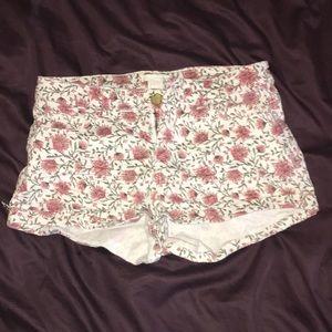 Floral H&M shorts